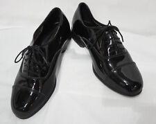 Size 9 Wide Mens Black Perry Ellis Cap Toe Lace Up Oxfords Tuxedo Shoe Formal