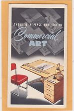 3 Part Advertising Postcard - Commercial Art Test & Instruction Minneapolis MN