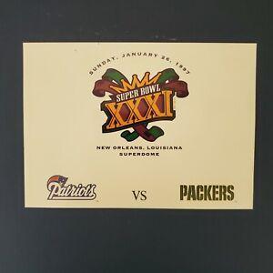 VINTAGE - NFL SUPER BOWL 31 HAND CANCELED POST CARD - NEW ORLEANS  1997