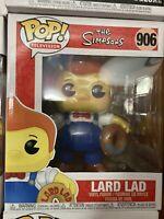 "Funko Pop! Television #906 Lard Lad The Simpsons 6"" Super Sized Pop Shelf Wear"