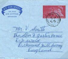 GB Used JAMAICA QEII Stationery AIR-LETTER *PORT ANTONIO* Surrey 1967 SG18