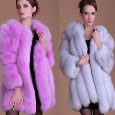 Parka Outwear Ladies Overcoat Women's Long Faux Fox Fur Winter Coat Jacket Warm