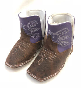 Baby Bean by Anderson Bean Purple Infant Boots, Style B7012