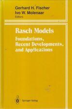 RASCH MODELS: FOUNDATIONS, RECENT DEVELOPMENTS & APPLICATIONS statistics