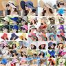 Women's Big Wide Brim Straw Hats Summer Holiday Beach Sun Floppy Derby Caps New