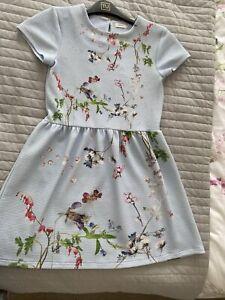 Beautiful Blue Floral Dress NEXT age 10
