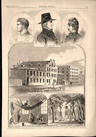 Civil War Richmond Virginia Prisons & Jailers 1862 historical print