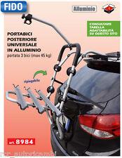Portabici posteriore universale in alluminio 3 bici max 45kg Gev FIDO - cod.8984