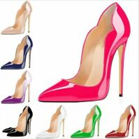 Sexy Womens Stilettos High Heels Pointed Toe Court Shoes Ladies Pumps Size 35-47