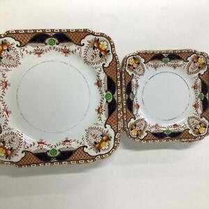 Burgess Bro Carlisleware Longton England 5 Small & 6 Dinner plates #454