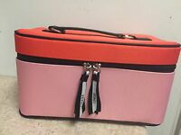 Clinique Makeup Train Case PINK / ORANGE NEW HOLIDAY 2016 Gift TRAVEL BAG