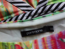 PORTMANS BrightStretch96%CottonMixSleevelessParty Size16 as NEW