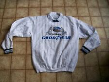 Goodyear Blimp Sweatshirt by Gear...Size M....White and Blue....New