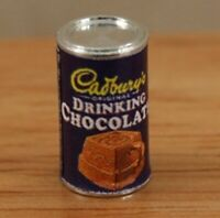 Dolls House Miniature 12th Scale of Tin of Drinking Chocolate FD149