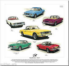TRIUMPH STAG 1970-77 SPORTS CAR - FINE ART PRINT - Early MK1 MK2 Late & Federal