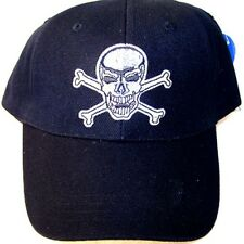 2 SKULL X BONE BASEBALL CAPS scull hat mens headwear