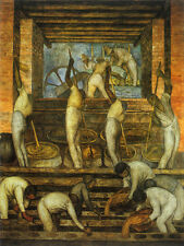 The Sugar Mill   by Diego Rivera Giclee Canvas Print Repro