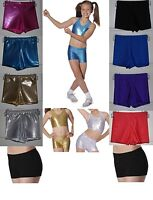 ROCH VALLEY GIRLS DANCE GYMNASTICS SHORTS HOT PANTS METALLIC + NYLON LYCRA