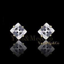 2.90ct Princess Cut Lab Created Sapphire Stud Earrings