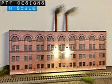 "N Scale Scratch Built ""Hershey Chocolate Co Factory"" 🍫 Building Front -Walthers"