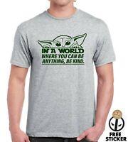 Baby YODA T-shirt Peace Quote The Mandalorian Disney Inspired Mens Star Wars Tee