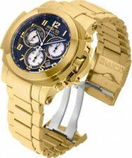 RARE Invicta Reserve SWISS MADE 18k Gold Plated Man of War Chronograph Watch