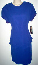 WOMENS DRESS SIZE 14 ROYAL BLUE SHORT SLEEVE NORDSTROM NEW w/TAGS RETAIL $118