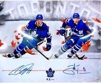 AUSTON MATTHEWS & JOHN TAVARES Maple Leafs Autographed 8x10 Signed Reprint