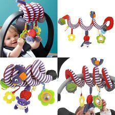 Baby Spiral Soft Toy Pram Car Seat Cot Crib Activity Rattle Plush Toys Gift - SS