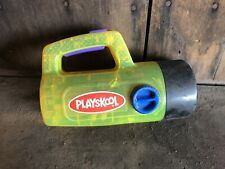 Vintage Playskool Duracell Flashlight White Green Red Light Playschool