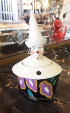 ART DECO A.L .FRENCH PORCELAIN  DESK INKWELL , CLOWN