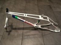 Haro Master Freestyler white NOS Old School BMX Frame and Forks All Original