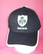 NEW Ireland Black Mens Baseball Cap Irish Rugby Shamrock Hat Adjustable