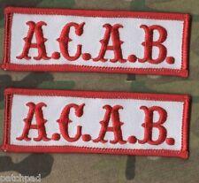 OUTLAW BIKER GANG HOG BIKER RIDER OUTLAW 1%er BIKER OUTLAW ACAB Red/White 2-TAB