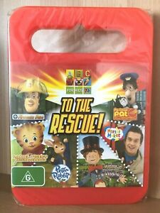 TO THE RESCUE~ABC 4 KIDS~FIREMAN SAM+POSTMAN PAT+PETER RABBIT~NEW SEALED PAL DVD