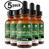 Peppermint Hemp Oil Drops for Pain Relief, Stress, Anxiety, Sleep (5 PACK)