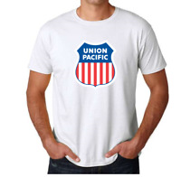 Union Pacific Railroad Tee Shirt North American Rail Railway Train White T-shirt