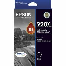 Epson Genuine 220XL BLACK H/Yield Ink For WF2630 WF2650 XP220 XP320 - 400 Pages