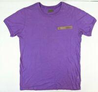 Maharishi Logo Mens Purple Crew Neck T Shirt Tee Size Large L