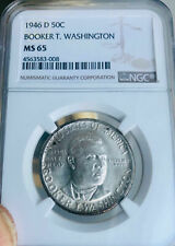1946-D BT Washington Commemorative Silver $.50 - NGC MS 65 - Mint State 65