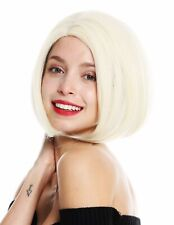 Perruque pour Femme Court Longbob Carré Raie Lisse Blond Platine VK-54