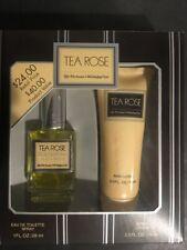 RARE Original TEA ROSE Perfumers Workshop Gift Set Lotion and 1 oz EDT SP NIB