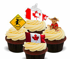 Canada Fun Pack, Edible Cupcake Toppers, Stand-up Fairy Cake, Canadian Flag