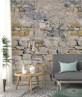 Fototapete Alte Mauer aus Stein und Stuck XL 350 x 245 cm 7 Teile Fototapete
