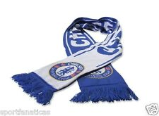 Chelsea Fc Scarf Reversible Blue and White