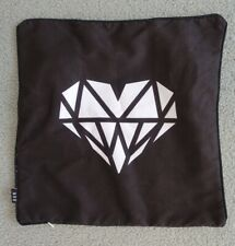 Black White Reversable Pillow Case Decorative Cushion Cover- Diamond Heart