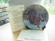 THE CAROLLERS SCENES OF CHRISTMAS PAST CHINA PLATE BOXED CERTIFICATE W GEORGE 16