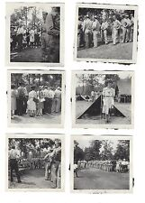 8 World War II b&w photos families visiting Army camps good condition