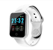 BT Smartwatch Pulsera inteligente Monitor ritmo cardíaco Presión arterial Blanco