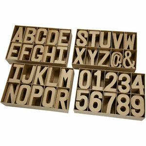 Papier Paper Mache Large Letters Numbers 20.5cm 3D Cardboard Art Craft Sign
